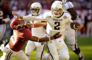 Johnny Manziel Stiffarm