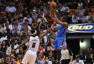 Durant over James