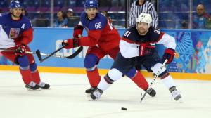 Olympics: Ice Hockey-Men's Quarterfinals-USA vs Czech Republic
