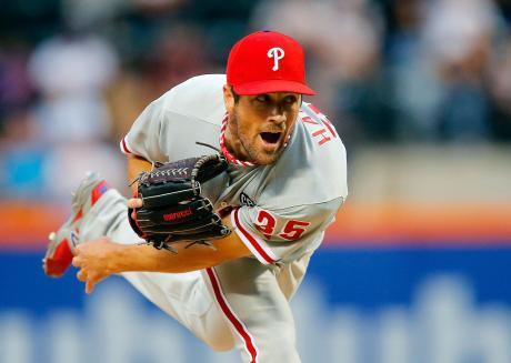 Cole Hamels throwing