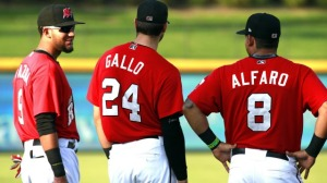 Rangers Prospects Gallo, Alfaro, and Mazara