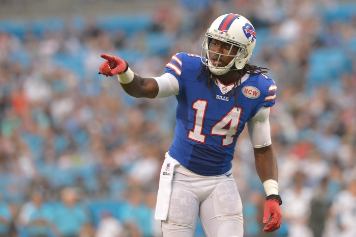 CHARLOTTE, NC - AUGUST 08:  Sammy Watkins #14 of the Buffalo Bills during their game against the Carolina Panthers at Bank of America Stadium on August 8, 2014 in Charlotte, North Carolina. Buffalo won 20-18.  (Photo by Grant Halverson/Getty Images)